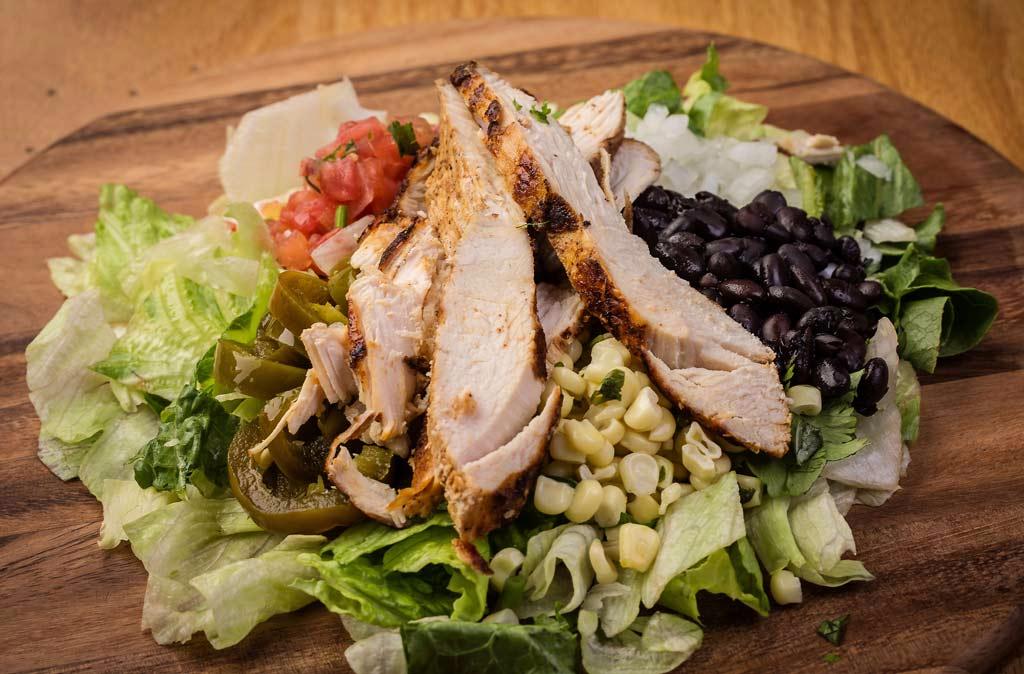 Chido, Burrito, Chicken, Salad, EV